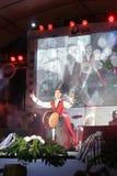 Ο δράστης, μουσικός στο διεθνές τύμπανο Lamphun στοκ φωτογραφία με δικαίωμα ελεύθερης χρήσης