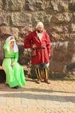 Ο δράστης στο μεσαιωνικό κοστούμι Στοκ φωτογραφία με δικαίωμα ελεύθερης χρήσης