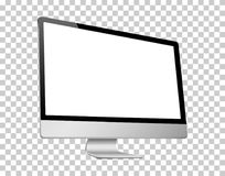 Ο ρεαλιστικός τρισδιάστατος υπολογιστής άφησε την άποψη, με μια άσπρη οθόνη, που απομονώθηκε σε ένα υπόβαθρο transparancy Στοκ Εικόνα