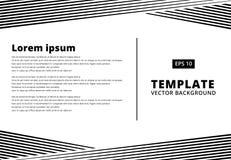 Ο ριγωτός Μαύρος σχεδίων γραμμών παρουσίασης προτύπων για την τυπωμένη ύλη, αγγελία, Στοκ Φωτογραφίες