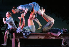 Ο ρυθμός του ζωή-αμερικανικού σύγχρονου χορού Στοκ Εικόνα