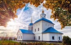 Ο ρωσικός ναός Ορθόδοξων Εκκλησιών Στοκ φωτογραφία με δικαίωμα ελεύθερης χρήσης