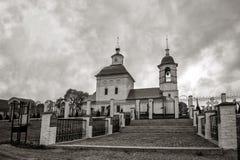 Ο ρωσικός ναός Ορθόδοξων Εκκλησιών Στοκ Εικόνες