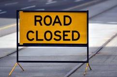 Ο δρόμος έκλεισε το σημάδι και το σύμβολο Στοκ φωτογραφίες με δικαίωμα ελεύθερης χρήσης