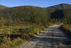Ο δρόμος και το βουνό Στοκ Εικόνα