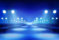 Ο δρόμος στη νύχτα επίσης corel σύρετε το διάνυσμα απεικόνισης Στοκ Φωτογραφίες