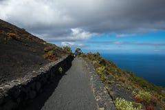 Ο δρόμος στο ηφαίστειο Κανάρια νησιά tenerife Ισπανία Στοκ Φωτογραφίες
