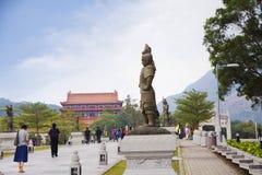 Ο δρόμος στο Po Lin μοναστήρι στο νησί Lantau Χογκ Κογκ Στοκ Εικόνες