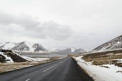 Ο δρόμος στο snaefellsne στο νησί Ισλανδία Στοκ Εικόνα