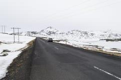 Ο δρόμος στο snaefellsne στο νησί Ισλανδία Στοκ Φωτογραφία