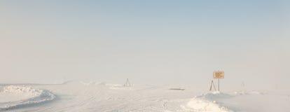 Ο δρόμος της ζωής στη λίμνη Ladoga κατά τη διάρκεια του αποκλεισμού του Λένινγκραντ κατά τη διάρκεια του δεύτερου παγκόσμιου πολέ Στοκ Εικόνες