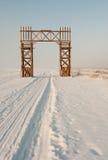 Ο δρόμος της ζωής στη λίμνη Ladoga Ο δρόμος της ζωής στη λίμνη Ladoga Στοκ Εικόνες