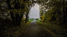 Ο δρόμος φθινοπώρου Στοκ φωτογραφία με δικαίωμα ελεύθερης χρήσης