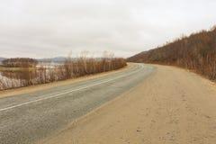 Ο δρόμος tundra Στοκ Φωτογραφία