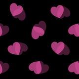 Ο ρόδινος Μαύρος καρδιών υποβάθρου καρδιών Στοκ Φωτογραφίες