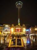 Ο σήμα-ραδιο πύργος πόλεων του ST Johns είναι ένα ραδιόφωνο και ένας πύργος παρατήρησης στο Λίβερπουλ, Αγγλία στοκ εικόνες