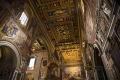 Ο σηκός της βασιλικής του ST John Lateran στη Ρώμη Ιταλία Στοκ Φωτογραφίες