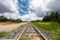 Ο σιδηρόδρομος είναι κάτω από την κατασκευή Στοκ φωτογραφία με δικαίωμα ελεύθερης χρήσης