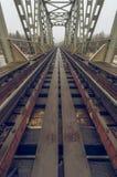 Ο σιδηρόδρομος πηγαίνει στο άπειρο Στοκ Φωτογραφίες