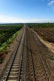 Ο σιδηρόδρομος προόδου Στοκ Εικόνες