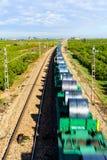 Ο σιδηρόδρομος προόδου Στοκ φωτογραφίες με δικαίωμα ελεύθερης χρήσης