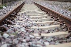 Ο σιδηρόδρομος σκουριάς ακολουθεί τη σύσταση στοκ εικόνες