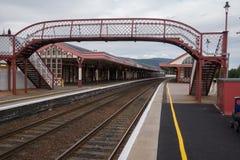 Ο σιδηροδρομικός σταθμός Aviemore, Σκωτία στοκ φωτογραφία με δικαίωμα ελεύθερης χρήσης