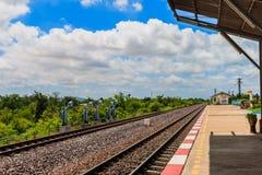 Ο σιδηρόδρομος για τη μεταφορά, σιδηρόδρομος μεταφορών Στοκ Φωτογραφία