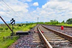 Ο σιδηρόδρομος για τη μεταφορά, σιδηρόδρομος μεταφορών Στοκ Φωτογραφίες