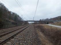 Ο σιδηρόδρομος στο Γκέτεμπουργκ Στοκ Φωτογραφία