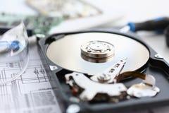 Ο σκληρός δίσκος από τον υπολογιστή ή το lap-top βρίσκεται στον πίνακα Στοκ φωτογραφίες με δικαίωμα ελεύθερης χρήσης