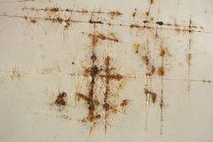 Ο σκουριασμένος στην επιφάνεια χάλυβα στοκ εικόνα
