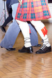 Ο σκωτσέζικος χορός, πόδια και κάλτσες Στοκ εικόνες με δικαίωμα ελεύθερης χρήσης