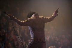 Ο σμαραγδένιος Elvis/η τελική κουρτίνα 2 στοκ εικόνες με δικαίωμα ελεύθερης χρήσης