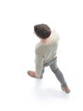 Ο σοβαρός νεαρός άνδρας προχωρά Έννοια της προοπτικής Στοκ φωτογραφία με δικαίωμα ελεύθερης χρήσης