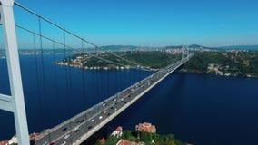Ο σουλτάνος Mehmet Bridge Fatih, είναι μια γέφυρα στη Ιστανμπούλ, Τουρκία απόθεμα βίντεο