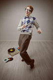 Χορευτής Nerd στοκ εικόνα με δικαίωμα ελεύθερης χρήσης