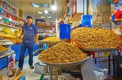 Ο στάβλος των καρυδιών στην Τεχεράνη μεγάλο Bazaar Στοκ φωτογραφίες με δικαίωμα ελεύθερης χρήσης