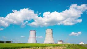 Ο σταθμός ατομικής ενέργειας Astravets κάτω από την κατασκευή, χρόνος-σφάλμα απόθεμα βίντεο