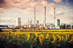 Ο σταθμός παραγωγής ηλεκτρικού ρεύματος Στοκ Εικόνες