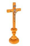 ο σταυρός απομόνωσε ξύλινο Στοκ φωτογραφία με δικαίωμα ελεύθερης χρήσης