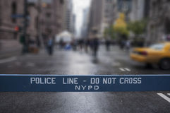 ο σταυρός ευθυγραμμίζει όχι την αστυνομία πόλη Νέα Υόρκη Στοκ Εικόνες