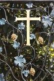 ο σταυρός σφυρηλάτησε επεξεργασμένο Στοκ Εικόνα