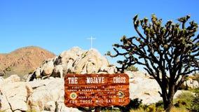 Ο σταυρός Mojave απόθεμα βίντεο