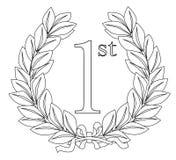 1$ο στεφάνι δαφνών Στοκ εικόνα με δικαίωμα ελεύθερης χρήσης
