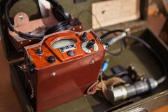 Ο στρατιωτικός ραδιοσταθμός επικοινωνίας στοκ εικόνα με δικαίωμα ελεύθερης χρήσης