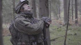 Ο στρατιώτης φαίνεται χρόνος 4K απόθεμα βίντεο