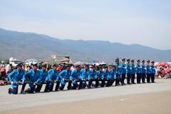 Ο στρατός της Ταϊλάνδης στις 9 Ιανουαρίου 2016 παρουσιάζει την ημέρα παιδιών στοκ φωτογραφία