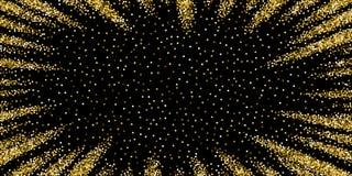 Ο στρογγυλός χρυσός ακτινοβολεί λαμπιρίζοντας κομφετί πολυτέλειας scat απεικόνιση αποθεμάτων