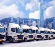 Ο στόλος φορτηγών σταθμεύει στοκ φωτογραφίες με δικαίωμα ελεύθερης χρήσης